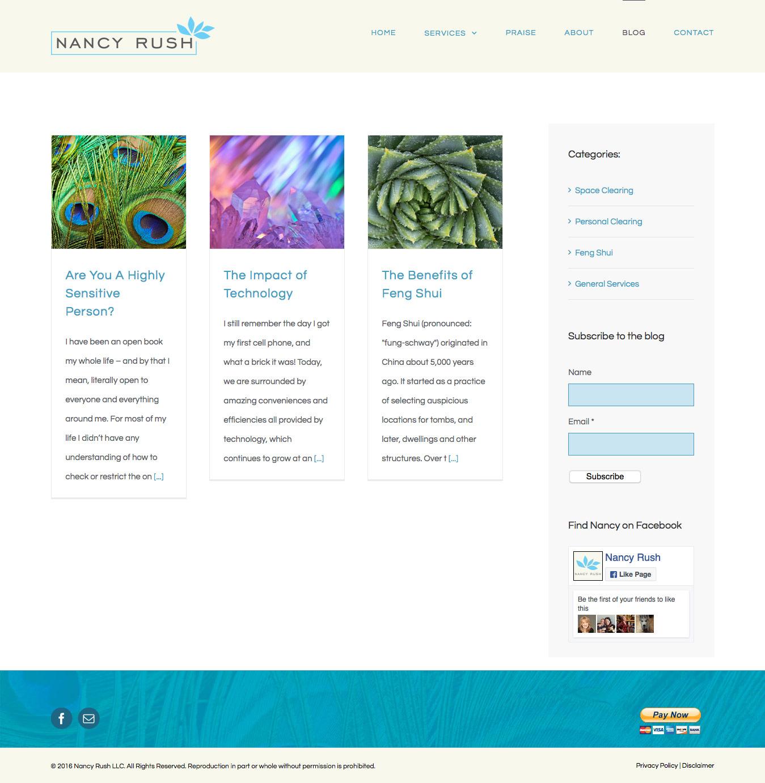 Clearing & Feng Shui WordPress Website Redesign