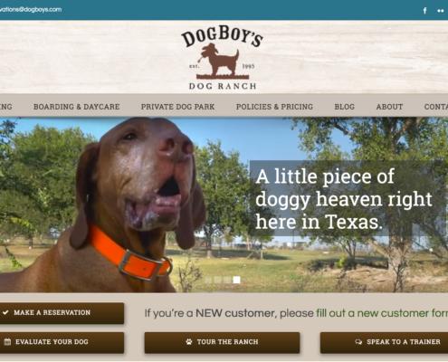 DogBoy's Dog Ranch WordPress Website Design