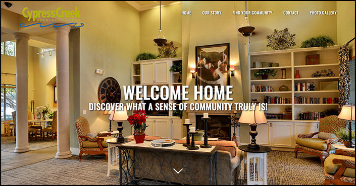 Apartment home website redesign