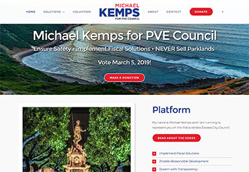 City Council Candidate WordPress Website